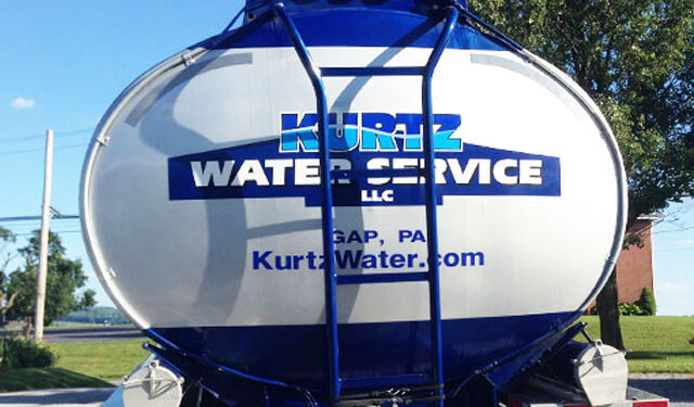 Kurtz Water logo on back of truck